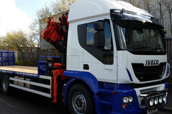 Iveco Conversion New Body Hydraulic Beaver Tail and Hiab Crane