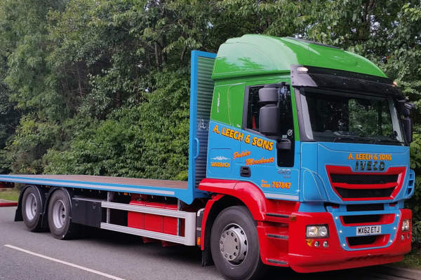 Iveco Stralis 420 6x2 with Granning tag Axle for A Leach and Sons