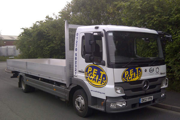 Mercedes Atego Aluminium Body Conversion for PET Tool Hire
