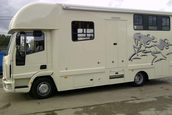 Custom Build Horse Box with Electric Wheel Chair Lift